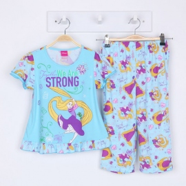 G0B1P09 Size 1 อายุ 6-12 เดือน ลายลิขสิทธิ์ Disney Princess ลายเจ้าหญิงราพันเซลโหนตัว โทนสีชมพู