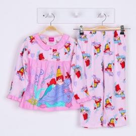 G0A1P70 Size 1 อายุ 6-12 เดือน ลายลิขสิทธิ์ Disney Princess ลายเจ้าหญิงแอเรียลกับปลาเพื่อนรัก โทนสีชมพู