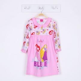 G6E1A62 Size 14 ผ้ายืด+วูเว่น อายุ10-12ขวบ ลายลิขสิทธิ์ Disney Princess ลายราพันเซลกับแอเรียล โทนสีชมพู