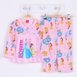 G6A1X04 Size14 อายุ9-10 ขวบ ลายลิขสิทธิ์ Disney Princess ลายเจ้าหญิงโฉมงาม+ซินเดอร์เรล่า โทนสีชมพู
