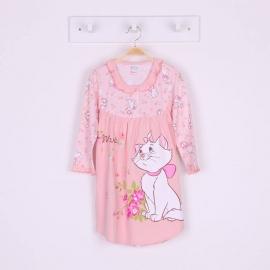 G6E1B27 Size 14 อายุ9-10ขวบ ผ้ายืด ลายลิขสิทธิ์แมวมาลี ลายแมวมาลีกับดอกไม้ โทนสีโอรส