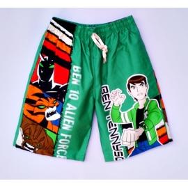 2114043 กางเกงขาสามส่วนเด็ก Size XL 9-11 ขวบ ผ้าคอตตอน ลายลิขสิทธิ์ ิ BEN 10 สีเขียว