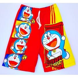 2113082 กางเกงขาสามส่วนเด็ก Size L 6-8 ขวบ ผ้าคอตตอน ลายลิขสิทธิ ์โดราเอมอนกับประตูวิเศษ พื้นสีแดง