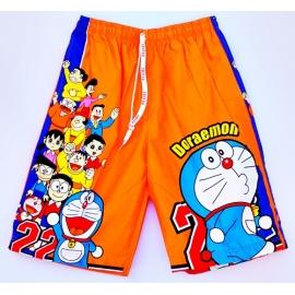 2114081 กางเกงขาสามส่วนเด็ก Size XL 9-11 ขวบ ผ้าคอตตอน ลายลิขสิทธิ์ ิ โดราเอมอนกับผองเพื่อน พื้นสีส้ม