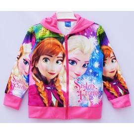 G41JP05 Size 8 อายุ4-6 ขวบ เสื้อกันหนาว Fozen ลายเจ้าหญิงแอลซ่ากับแอนนา sistres โทนสีชมพู