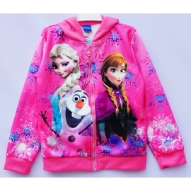 G21JP06 Size 4 อายุ2-3 ขวบ เสื้อกันหนาว Fozen ลายเจ้าหญิงแอลซ่ากับแอนนาและโอราฟ โทนสีชมพู