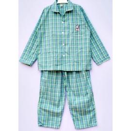 B6A3Z51 อายุ10-12 ขวบ ลายสก๊อตสีฟ้า+เขียว+น้ำตาล+เขียวอ่อน