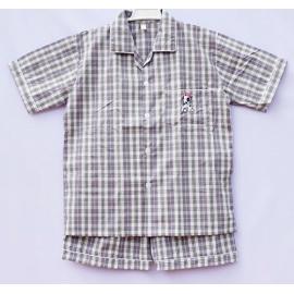 B7C3Z36 Size14-16 ผ้าทีซี ลายสก็อต สีเทา+ครีม+ดำ+เขียว