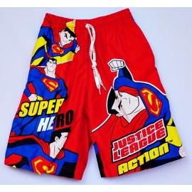 2113014 กางเกงขาสามส่วนเด็ก Size L 6-8 ขวบ ผ้าคอตตอน ลายลิขสิทธิ ์ซุปเปอร์แมน พื้นสีแดง