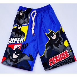 2115010 กางเกงขาสามส่วนเด็ก Size XXL 12-15 ขวบ ผ้าคอตตอน ลายลิขสิทธิ์ ิแบดแมน พื้นสีน้ำเงิน
