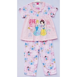 G1B1P13 Size 2 อายุ 2 ขวบ คอระบาย ลายลิขสิทธิ์ Disney Princess ลายเจ้าหญิงซินเดอเรล่ากับสโนไวท์ DARE TO dream โทนสีชมพู