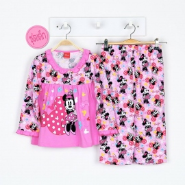 G3A1M02 Size 4 อายุ 3 ขวบครึ่ง ลายลิขสิทธิ์  Mickey Mouse ลายมินนี่ยืนยิ้มหวาน พื้นสีชมพู