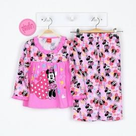G6A1M03 Size14 อายุ9-10 ขวบ ลายลิขสิทธิ์  Mickey Mouse ลายมินนี่ยืนยิ้มหวาน พื้นสีชมพู