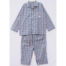 B7A3Z37 Size14-16 ผ้าทีซี ลายสก็อต สีเขียว+น้ำเงิน+ดำ+ขาว+ส้ม