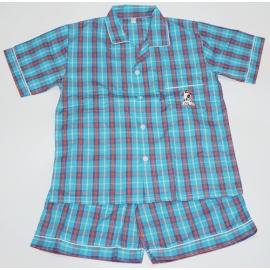 B7C3Z09 Size14-16 ผ้าทีซี ลายสก็อตสีน้ำเงิน+ส้ม+เขียว+น้ำตาล+ขาว